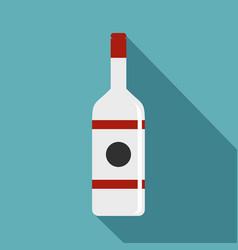 Vodka icon flat style vector