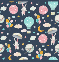 watercolor cute ba pattern vector image