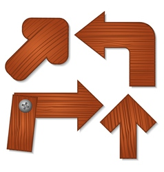 wooden arrows vector image