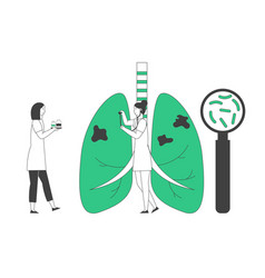 World tuberculosis day concept doctor vector