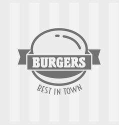 hamburger badge or logo vector image