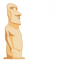moai vector image vector image