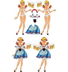 Octoberfest blond beer doll vector image