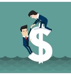 On top business concept cartoon vector