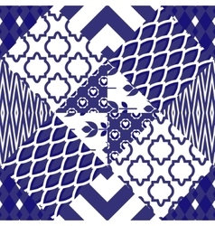 Patchwork quilt pattern tiles vector image vector image