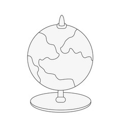planet earth globe map icon image vector image vector image