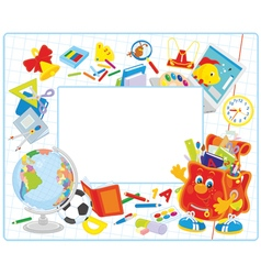 School frame vector image vector image