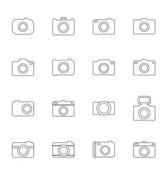 set of photo icons vector image