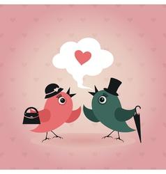 Bird of love vector image vector image
