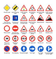 European traffic signs vector