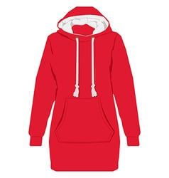 Red hoodie vector image
