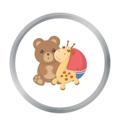 Toys cartoon icon for web and mobile vector image