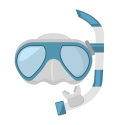 Diving mask and snorkel sea vector