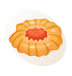 cookie homemade breakfast bake cakes isolated and vector image