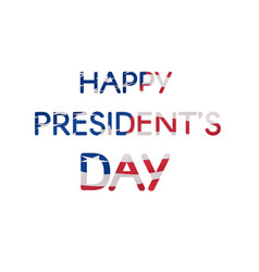 happy presidents day text banner textured us flag vector image