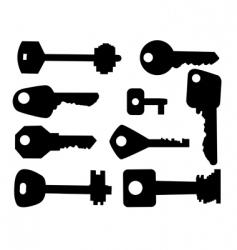 key set vector image vector image