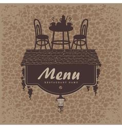 menu furniture vector image vector image