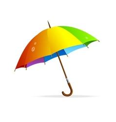 rainbow umbrella isolated vector image vector image