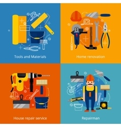 Repair service and renovation icons set vector image vector image