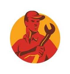 worker hat spanner front vector image vector image