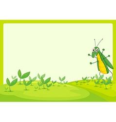 A grasshopper vector image