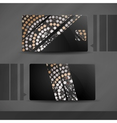 Abstract Business Card Designs vector image