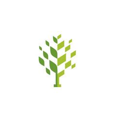 abstract tree green logo icon concept vector image