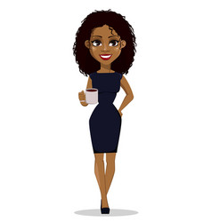 African american business woman vector