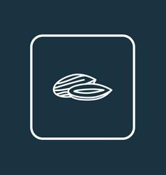 almond icon line symbol premium quality isolated vector image