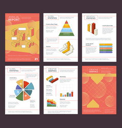 annual report design business buklet pages layout vector image