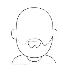 Avatar grandfather icon vector