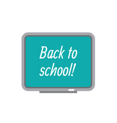 Back to school concept icon in flat graphic vector