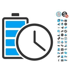 Battery Time Icon With Free Bonus vector