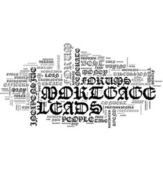 Best inexpensive mortgage leads text word cloud vector