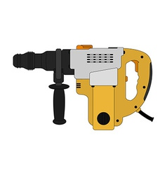 Big electric hammer drill Color vector image
