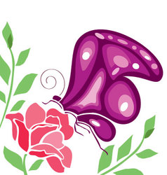 Butterflies-and-flowers-5 vector