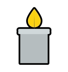 Candle icon Candlelight design graphic vector