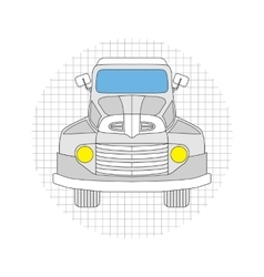 Cartoon car gray color vector