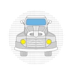 Cartoon car gray color vector