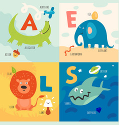 children alphabet concept vector image