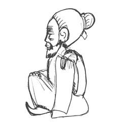 Chinese wiseman symbol taoism vector