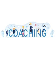 Coaching concept for business achievements vector
