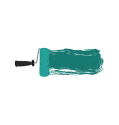 colorful silhouette of paint roller with paint vector image