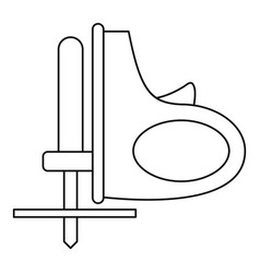 cordless reciprocating saw icon outline vector image