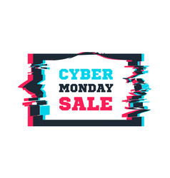 cyber monday sale on the background of the screen vector image
