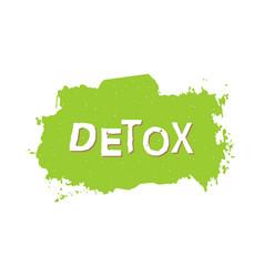 Detox healthy food badge vector