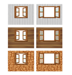 Double open windows on a white background vector