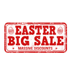 Easter big sale stamp vector