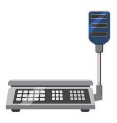 Electronic scales icon cartoon style vector