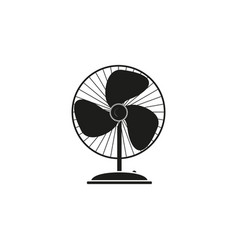 fan electronic of black icon vector image